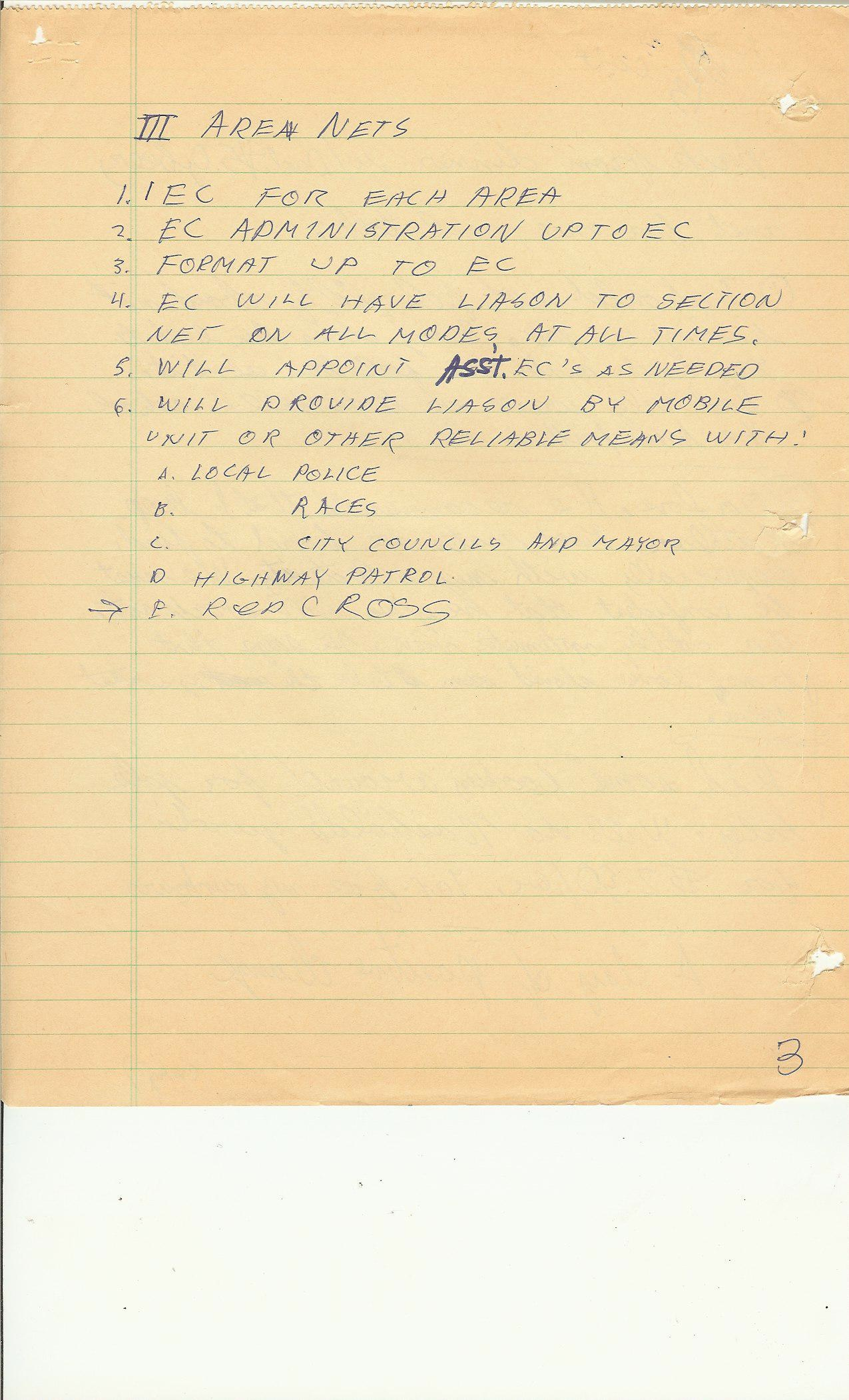 1971 RACES notes